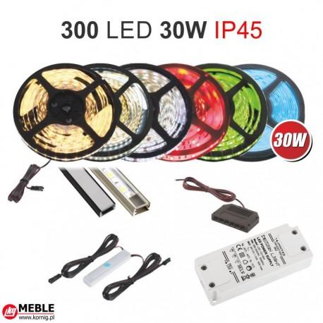 Zestaw 30W taśmy 300 LED 30W IP45