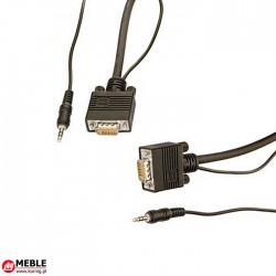 Kabel VGA 15-bieg. HD + MJ (1m)