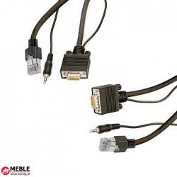 Kabel VGA 15-bieg. HD + MJ + RJ12 (10m)