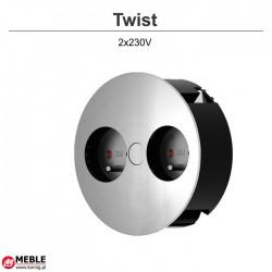 Gniazdo Twist 2x230V