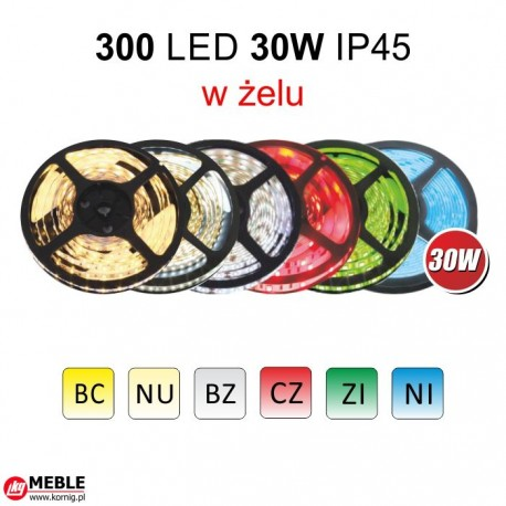 Taśma 300 LED 30W IP45