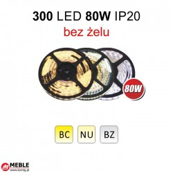 Taśma 300 LED 80W IP20