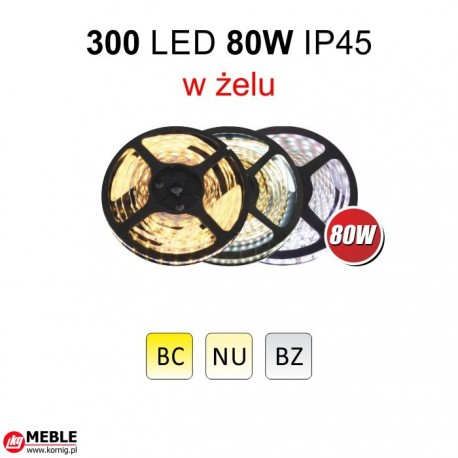 Taśma 300 LED 80W IP45
