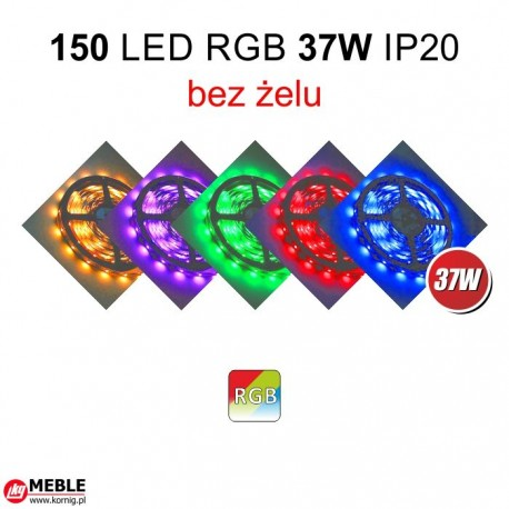 Taśma 150 LED RGB 37W IP20