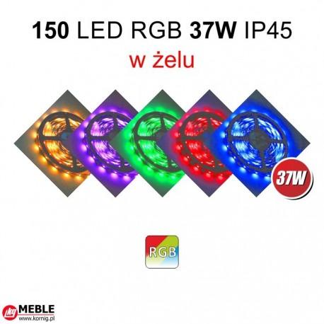 Taśma 150 LED RGB 37W IP45