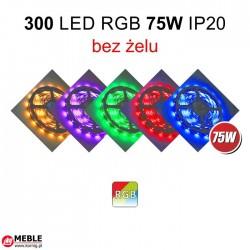 Taśma 300 LED RGB 75W IP20