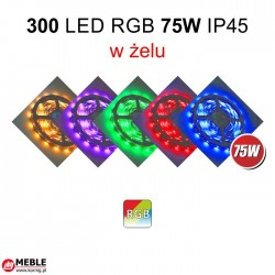 Taśma 300 LED RGB 75W IP45