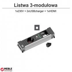 PFC3 1x230V + 2xUSBcharger + 1xHDMI