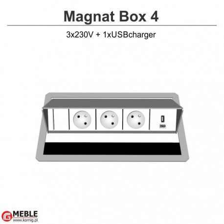 Magnat Box-4 3x230V+USBcharger