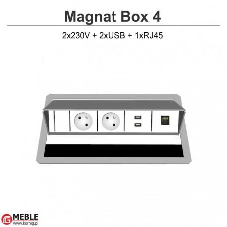 Magnat Box-4 2x230V+2xUSB+xRJ45