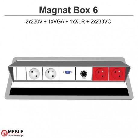 Magnat Box-6 2x230V+VGA+XLR+2x230VC