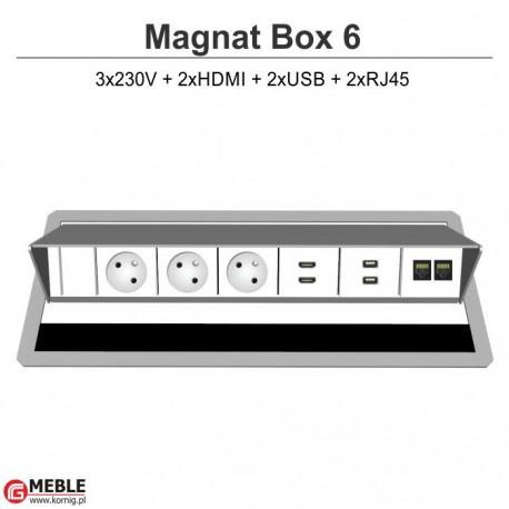 Magnat Box-6 3x230V+2xHDMI+2xUSB+2xRJ45