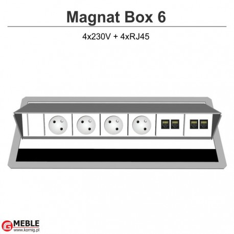 Magnat Box-6 4x230V+4xRJ45