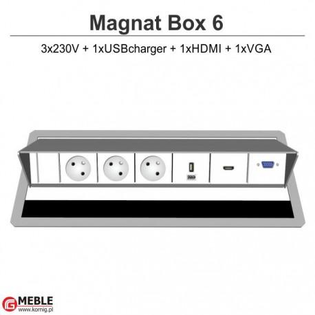 Magnat Box-6 3x230V+USBcharger+HDMI+VGA