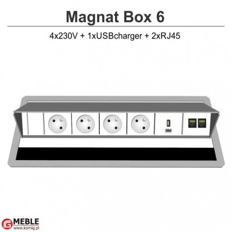 Magnat Box-6 4x230V+USBcharger+2xRJ45