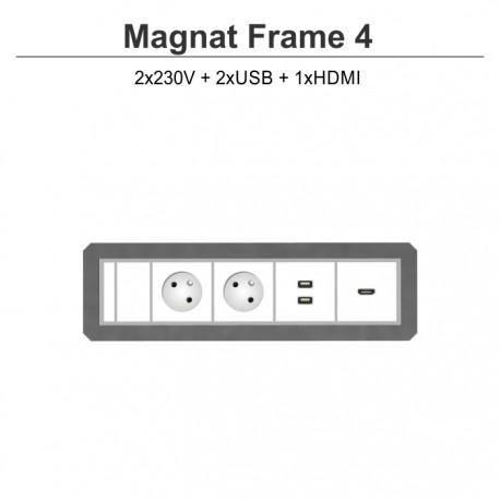Magnat Frame-4 2x230V+2xUSB+HDMI