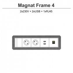 Magnat Frame-4 2x230V+2xUSB+RJ45