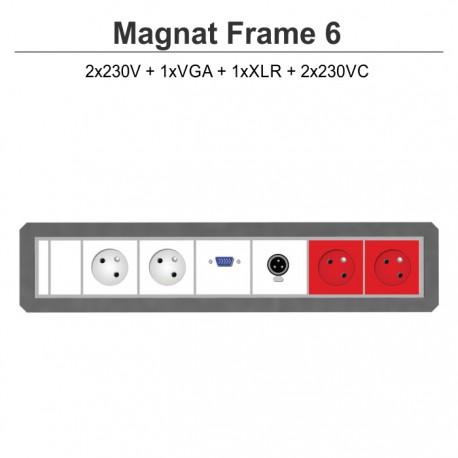 Magnat Frame-6 2x230V+VGA+XLR+2x230VC