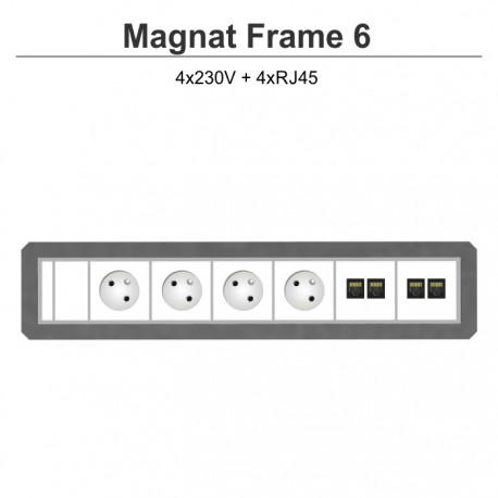 Magnat Frame-6 4x230V+4xRJ45