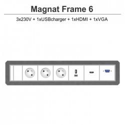 Magnat Frame-6 3x230V+USBcharger+HDMI+VGA