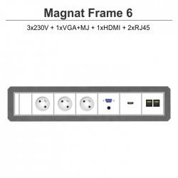 Magnat Frame-6 3x230V+VGA+MJ+HDMI+2xRJ45