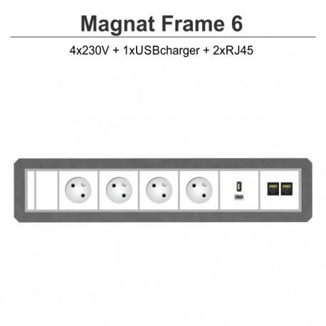 Magnat Frame-6 4x230V+USBcharger+2xRJ45