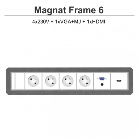 Magnat Frame-6 4x230V+VGA+MJ+HDMI