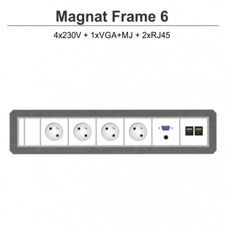 Magnat Frame-6 4x230V+VGA+MJ+2xRJ45