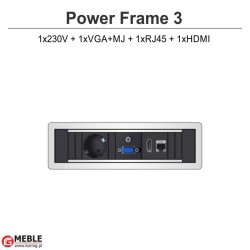 Power Frame-3 230V+VGA+MJ+RJ45+HDMI