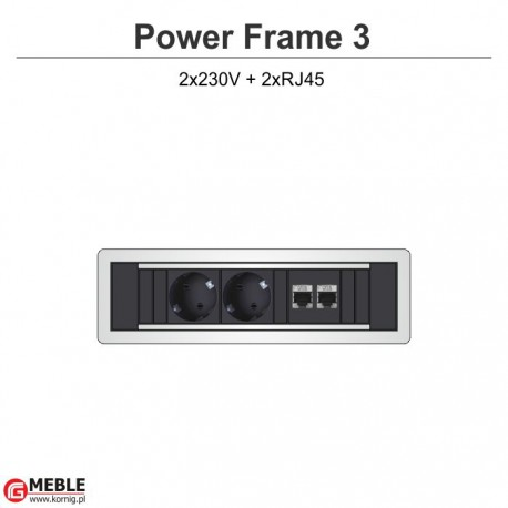 Power Frame-3 2x230V+2xRJ45