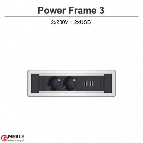 Power Frame-3 2x230V+2xUSB