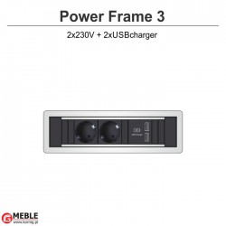 Power Frame-3 2x230V+2xUSBcharger