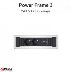 Power Frame-3 2x230V+2xUSBcharger