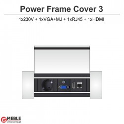 Power Frame Cover-3 230V+VGA+MJ+RJ45+HDMI