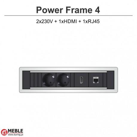 Power Frame-4 2x230V+HDMI+RJ45
