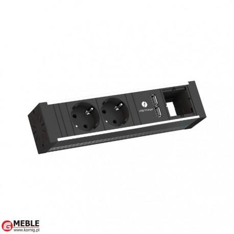 Listwa Venid-4 2x230V+2xUSBcharger+1xpuste