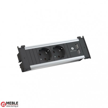 Listwa zasilajaca Kapsa-3 2x230V+2xUSBcharger