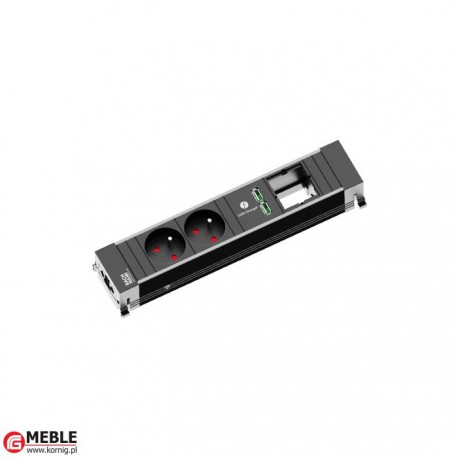 Listwa-4 2x230V+2xUSBcharger+1xpuste