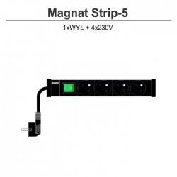Magnat Strip-5 4x230V + wyłącznik