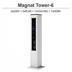 Magnat Tower- 6 2x230V+2xRJ45+1xVGA+MJ+1xHDMI