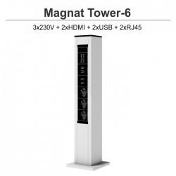 Magnat Tower- 6 3x230V+2xHDMI+2xUSB+2xRJ45