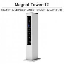 Magnat Tower-12 6x230V+1xUSBcharger+2xUSB+1xHDMI+1xVGA+1xRJ45