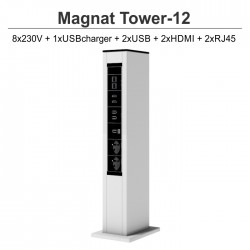 Magnat Tower-12 8x230V+1xUSBcharger+2xUSB+2xHDMI+2xRJ45