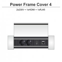 Power Frame Cover-4 2x230V + 1xHDMI + 1xRJ45