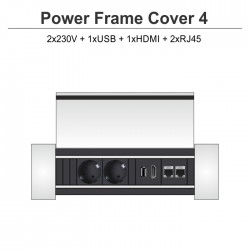Power Frame Cover-4 2x230V + 1xUSB + 1xHDMI + 2xRJ45