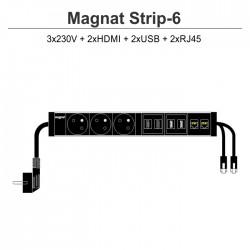 Magnat STRIP-6 (3x230V + 2xHDMI + 2xUSB + 2xRJ45)