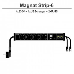 Magnat STRIP-6 (4x230V + 1xUSBcharger + 2xRJ45)