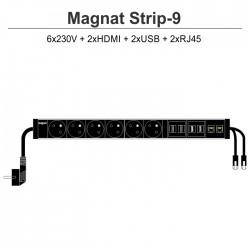 Magnat STRIP-9 (6x230V + 2xHDMI + 2xUSB + 2xRJ45)