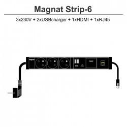Magnat STRIP-6 (3x230V + 1xUSBcharger + 1xHDMI + 1xRJ45)