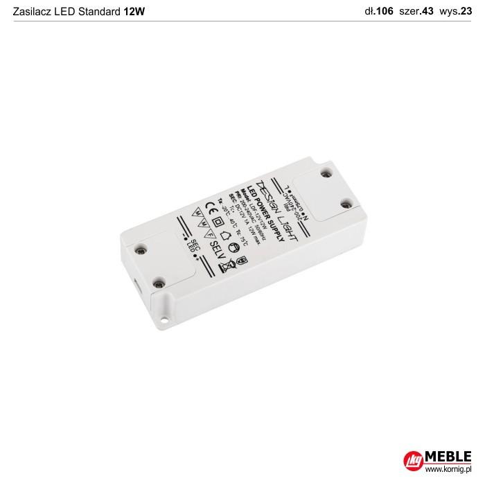 Zasilacz LED Standard 12W